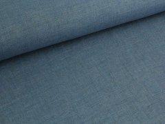Reststück 0,75m - Jeansleinen - mittelblau