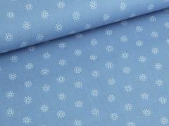 Baumwolle - Blumen - klein - blau - weiß