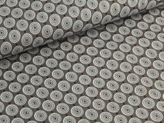 Baumwolle - Kreise - braun - weiß