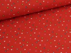 Baumwolle - Dreiecke - rot