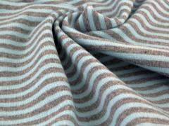 Bündchen Feinripp - Ringel - hellblau - grau meliert