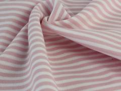 Bündchen Feinripp - Ringel - rosa - weiß