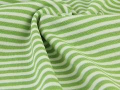 Bündchen Feinripp - Ringel - grün - weiß