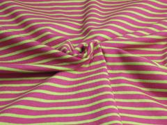 Jersey Single - Streifen - pink - hellgrün