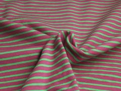 Jersey Single - Streifen - rosa - grün
