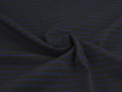 Jersey Single - Streifen - dunkelbraun - blau