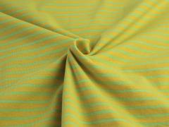 Jersey Single - Streifen - gelb - hellgrün