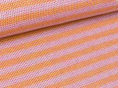 BIO Jacquard - Knit Knit - Stripes - Into the wild - Hamburger Liebe - Albstoffe - weiß - gelb