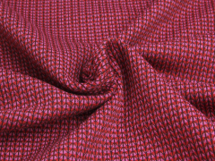 BIO Jacquard - Knit Knit - Ministripes - Into the wild - Hamburger Liebe - Albstoffe - rot - rosa - schwarz