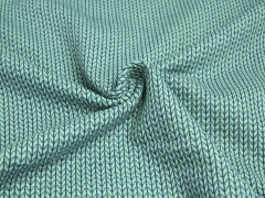BIO Jacquard - Knit Knit - Into the wild - Hamburger Liebe - Albstoffe - mint - blau