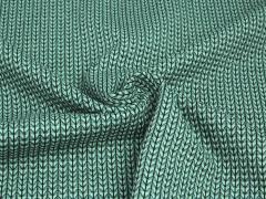 BIO Jacquard - Knit Knit - Ministripes - Into the wild - Hamburger Liebe - Albstoffe - aqua - mint - schwarz