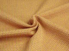 BIO Jacquard - Knit Knit - Into the wild - Hamburger Liebe - Albstoffe - gelb - pink