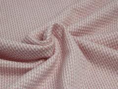 BIO Jacquard - Knit Knit - Into the wild - Hamburger Liebe - Albstoffe - rosa - weiß