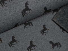 Alpenfleece - Einhorn - anthrazit