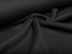 Merino Jersey Strick - schwarz