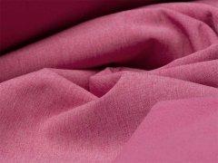 Reststück 0,50m - Softshell - meliert - rosa - weiß