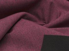 Reststück 1m - Softshell - meliert - beere - schwarz