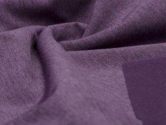 Reststück 0,75m Softshell - meliert - schwarz - lila