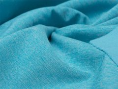 Reststück 0,85m - Softshell - meliert - blau - weiß