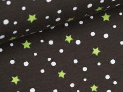 Jersey Single - Sterne - Punkte - klein - braun