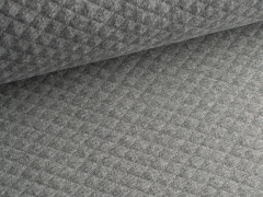 Baumwollstepp - grau - meliert