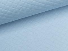 Reststück 0,80m - Baumwollstepp - hellblau