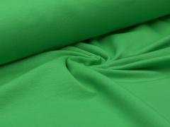 Reststück 1,0m - Sweat - grün - French Terry - ungeraut