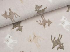 Fleece - Bambis - Jacquard - beige