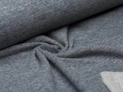 Sweat - navy - meliert - angeraut