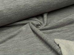 Reststück 1,0m - Sweat - khaki - meliert - angeraut