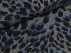 Jersey Viskose - Wild Spirit - Hilco - blau - grau