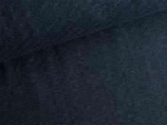 Reststück 0,80m - Baumwollstepp - dunkelblau