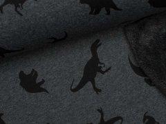 Alpenfleece - Dinosaurier - anthrazit