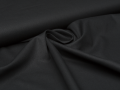 Baumwolle - uni - schwarz