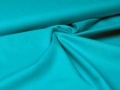 Baumwolle - uni - türkis blau