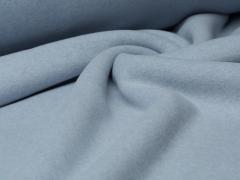 Reststück 0,70m - BIO Fleece  - hellblau meliert