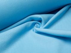 Bündchen Feinripp - uni - hellblau