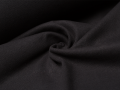 Bündchen Feinripp - uni - schwarz