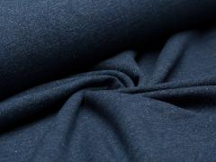 Reststück 0,40m - Sweat - jeansblau - meliert - angeraut