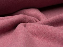 BIO Fleece  - bordeaux meliert