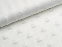 Minky Fleece - Sterne - natur