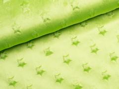 Minky Fleece - Sterne - grün