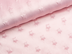 Minky Fleece - Sterne - rosa