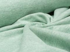 Sweat - French Terry - grün meliert - ungeraut