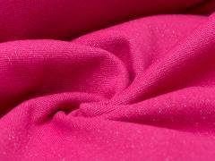 Bündchen Feinripp - Glitzer - pink