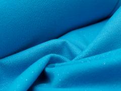 Bündchen Feinripp - Glitzer - blau