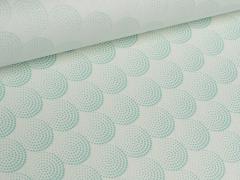 Wachstuch - Kreise - Punkte - Tante Ema - weiß - mint