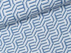 Reststück 0,80m - Jersey Viskose - Denim Days - Milliblu's - blau - weiß