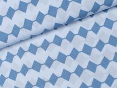 Viskose - Viereck - Denim Days - Milliblu's - blau - hellblau