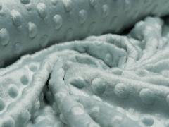 Minky Fleece - Punkte - mint dusty